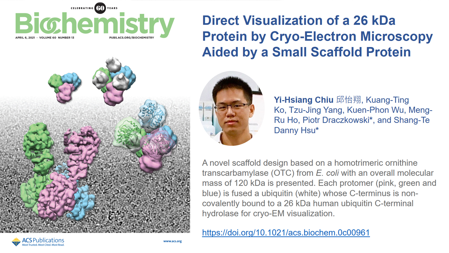Direct Visualization of a 26 kDa Protein by Cryo-Electron Microscopy Aided by a Small Scaffold Protein